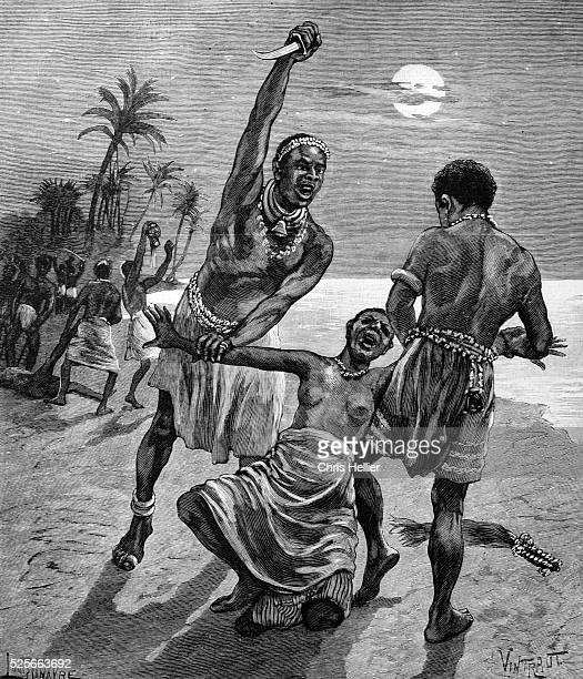 Amazons Attacked by Men in Kingdom of Dahomey 1904