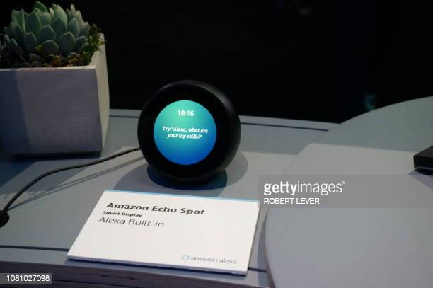 Amazon's Echo Spot device powered by its Alexa digital assistant is seen at the Consumer Electronics Show in Las Vegas on January 11 2019