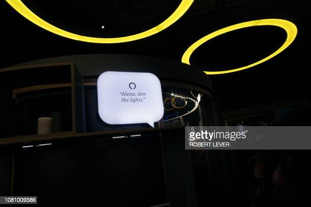 Amazon's exhibit at the 2019 Consumer Electronics Show on January 11 2019 highlighted how its Alexa digital assistant can connect to numerous smart...