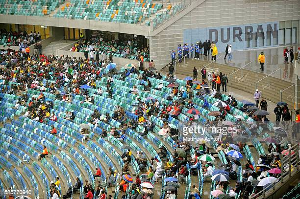 Amazulu FC and Maritzburg United fans at the Durban Derby during the first ever football match in the Moses Mabhida Stadium in Durban South Africa...