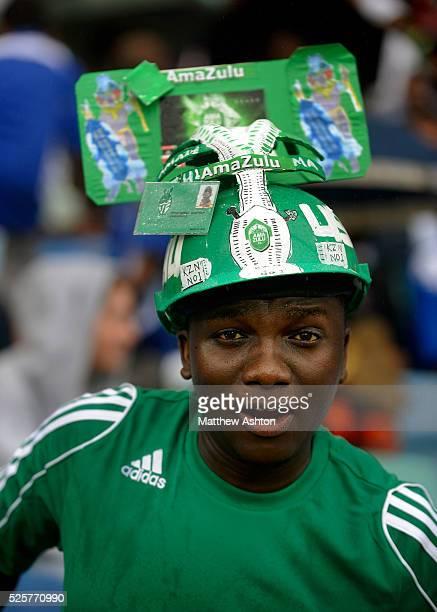 Amazulu FC fan wearing a hat
