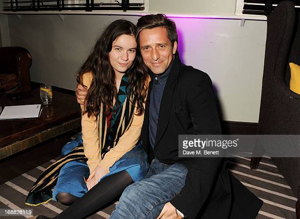 Amba Jackson and Dan Williams attend the Teenage Cancer Trust party at The Groucho Club on May 15 2013 in London England