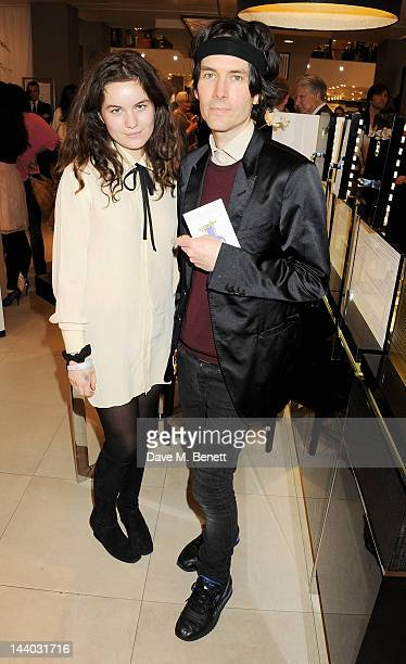 Amba Jackson and father Piers Jackson attend the launch of the new John Lewis Beauty Hall Oxford Street on May 8 2012 in London England