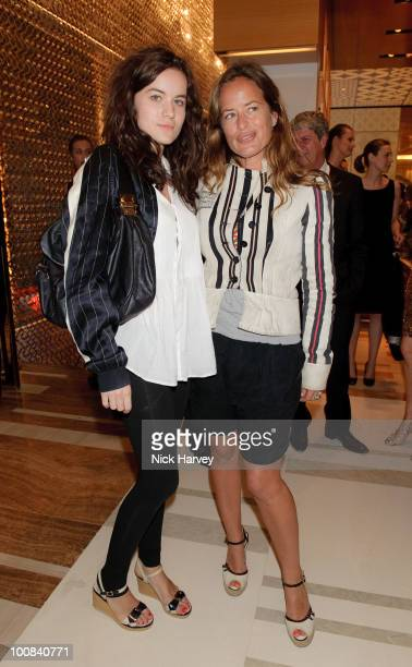 Amba Jackson and Jade Jagger attend the launch of the Louis Vuitton Bond Street Maison on May 25 2010 in London England