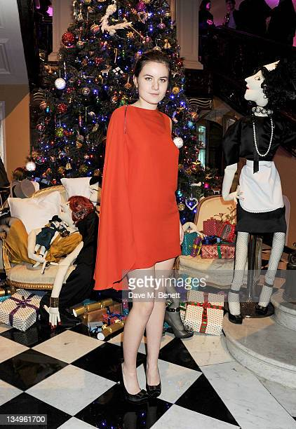 Amba Jackson attends Claridge's unveiling of the Alber Elbaz For Lanvin Christmas Tree at Claridge's Hotel on December 5 2011 in London England