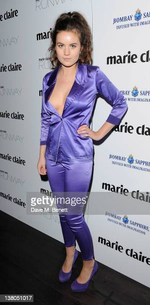 Amba Jackson attends the launch of Marie Claire's new fashion magazine 'Runway' at Le Baron at the Embassy on February 1 2012 in London England