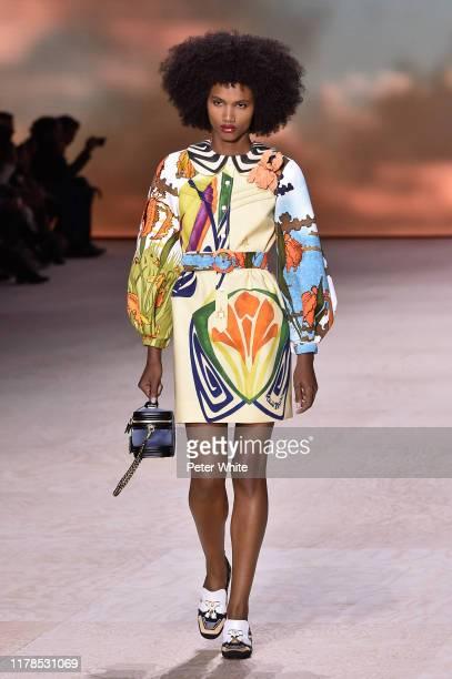 Ambar Cristal Zarzuela walks the runway during the Louis Vuitton Womenswear Spring/Summer 2020 show as part of Paris Fashion Week on October 01, 2019...
