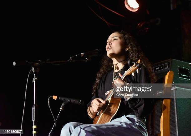 Ambar Lucid performs onstage at KCRW Event during the 2019 SXSW Conference and Festivals at Elysium on March 12 2019 in Austin Texas