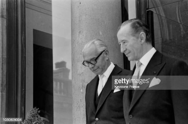 L'ambassadeur d'Autriche Ernst Lemberger est venu présenter ses lettres de créances au Président le 3 juillet 1969 à Paris France