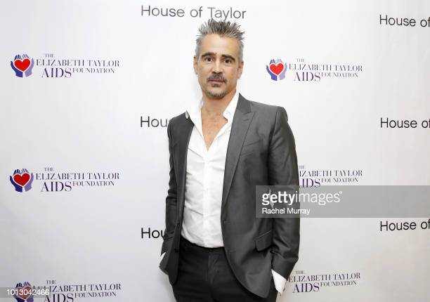 Ambassador and CoHost Colin Farrell attends the House of Taylor dinner benefitting The Elizabeth Taylor AIDS Foundation at House of Taylor on August...