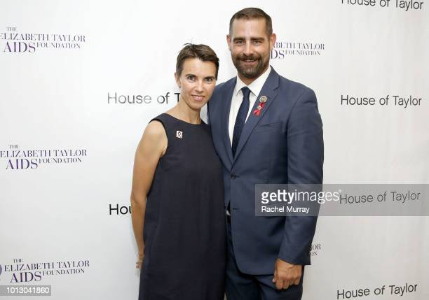 Ambassador and Elizabeth Taylor's granddaughter Naomi Wilding and CoHost PA State Representative Brian Sims attend the House of Taylor dinner...