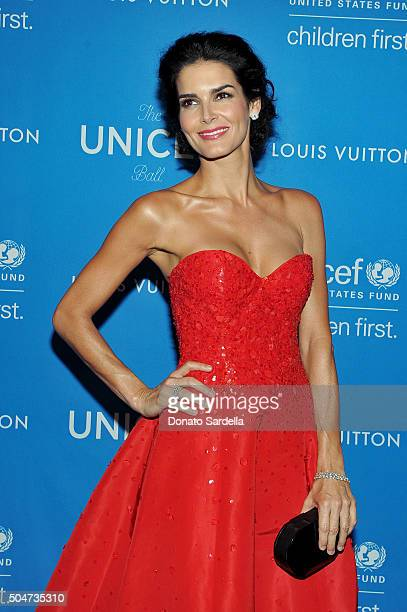 Ambassador Angie Harmon attends the Sixth Biennial UNICEF Ball Honoring David Beckham and C. L. Max Nikias presented by Louis Vuitton at Regent...
