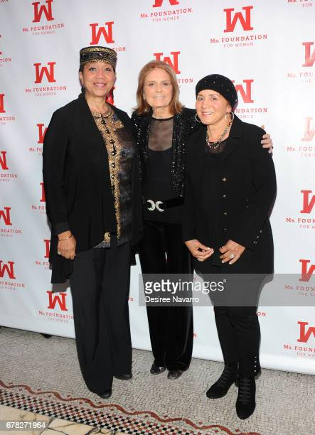 Ambassador Attallah Shabazz and Gloria Steinem attend Ms Foundation for Women 2017 Gloria Awards at Capitale on May 3 2017 in New York City