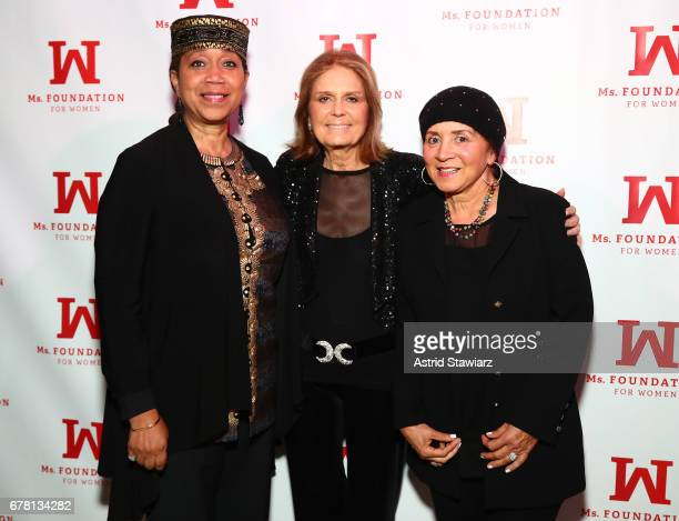 Ambassador Attallah Shabazz and Gloria Steinem attend the Ms Foundation for Women 2017 Gloria Awards Gala After Party at Capitale on May 3 2017 in...