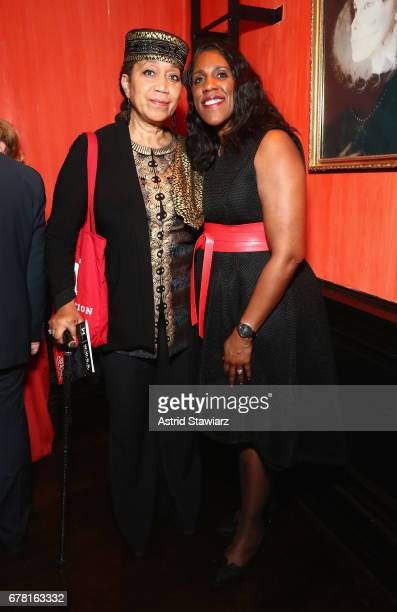 Ambassador Attallah Shabazz and Teresa C Younger attend the Ms Foundation for Women 2017 Gloria Awards Gala After Party at Capitale on May 3 2017 in...