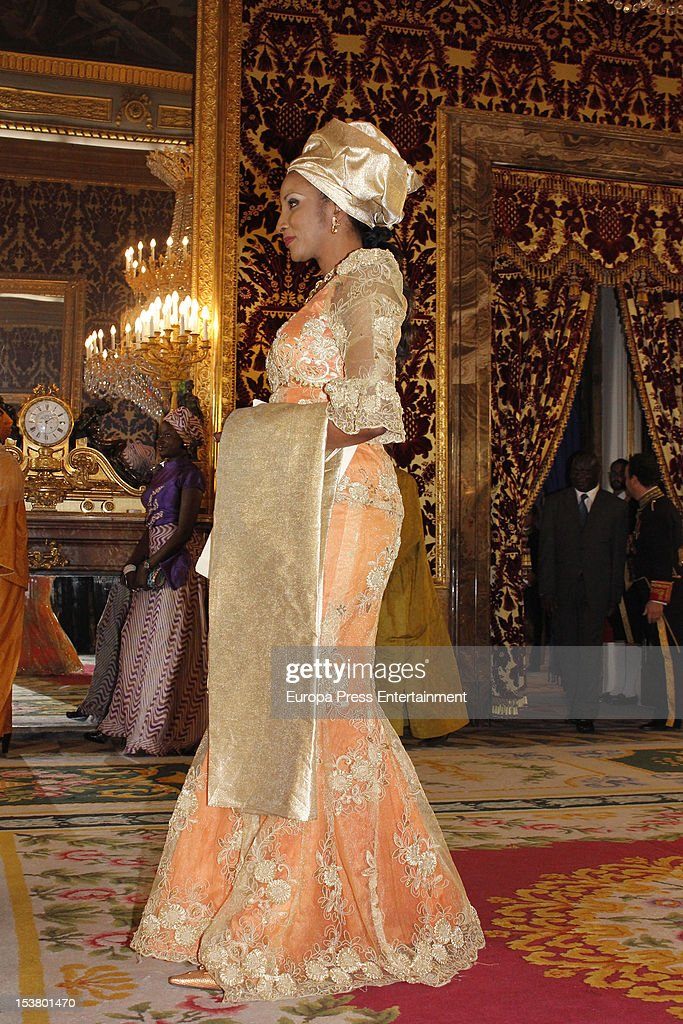 Ambassador attends the audience of King Juan Carlos of Spain at Royal Palace on October 9, 2012 in Madrid, Spain.