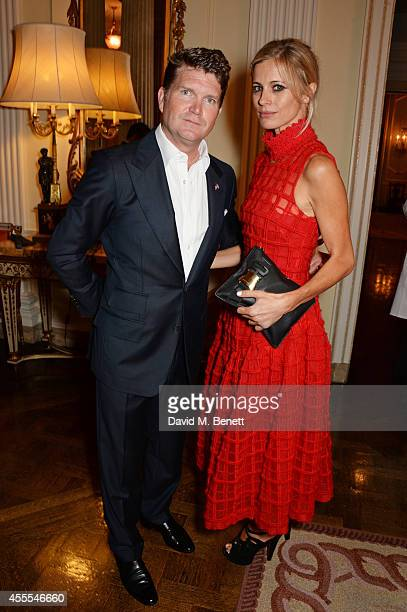 Ambassador Barzun and Laura Bailey attend as Ambassador Barzun Mrs Brooke Barzun and Alexandra Shulman celebrate London Fashion Week at Winfield...