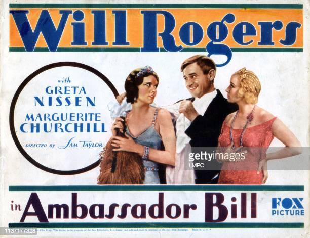 Ambassador Bill poster Marguerite Churchill Will Rogers Greta Nissen 1931