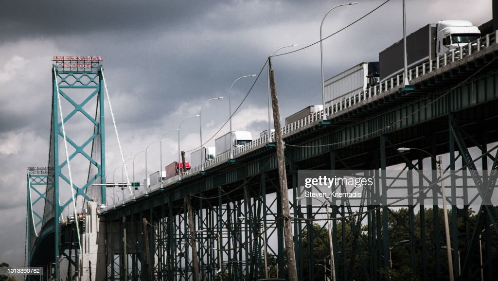 Ambassador Bridge : Stock Photo