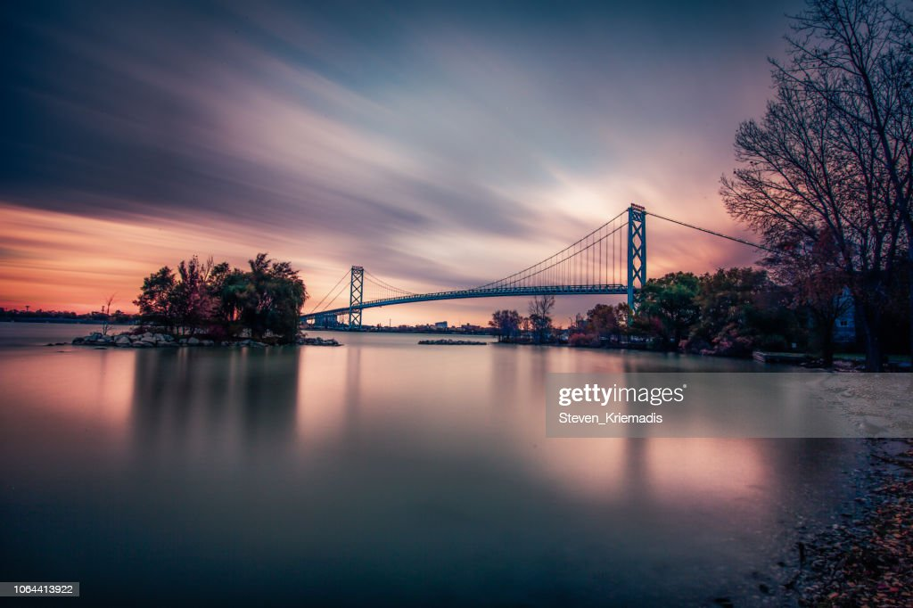 Ambassador Bridge : Stock Photo