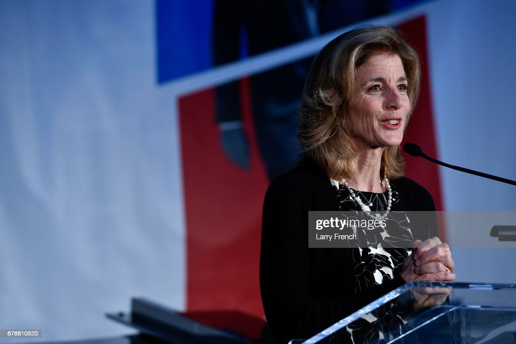 Ambassador Caroline Kennedy speaks at American Visionary: John F. Kennedy's Life and Times debut gala at Smithsonian American Art Museum on May 2, 2017 in Washington, DC.