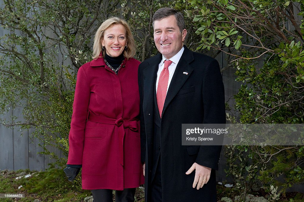 U.S. Ambassador Charles H. Rivkin (R), his wife Susan Tolson attend the Chanel Spring/Summer 2013 Haute-Couture show as part of Paris Fashion Week at Grand Palais on January 22, 2013 in Paris, France.