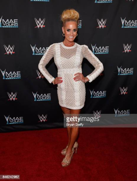 Ambassador Dana Warrior appears on the red carpet of the WWE Mae Young Classic on September 12 2017 in Las Vegas Nevada