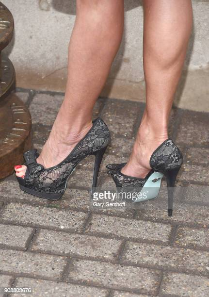 Ambassador Dana Warrior shoe detail attends the celebration of the 25th anniversay of Monday Night Raw at The Empire State Building on January 22...