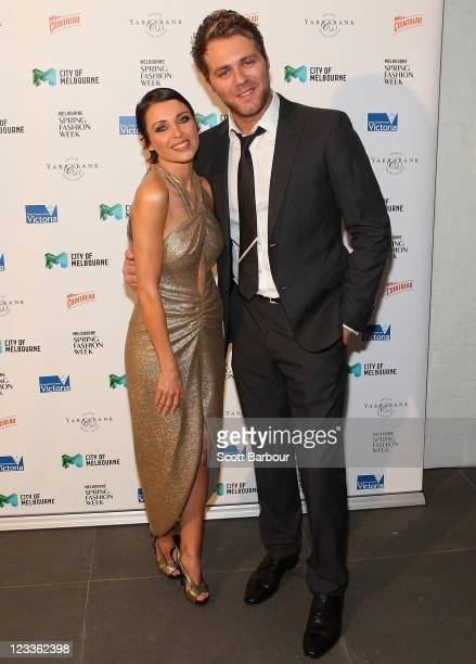 Ambassador Dannii Minogue and Brian McFadden arrive at the Melbourne Spring Fashion Week 2011 Opening Soiree on September 2 2011 in Melbourne...