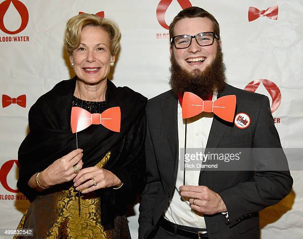 Ambassador Deborah L Birx and Blake Stockard attend the BloodWater 4th Annual Red Tie Gala to help fight the HIV/AIDS crisis at The Country Music...