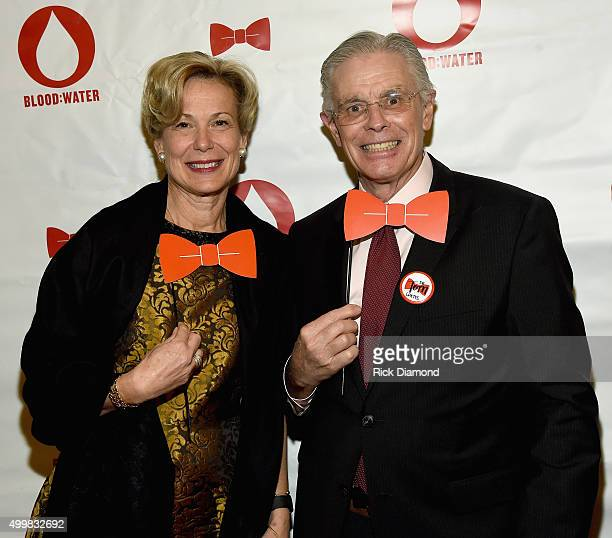 Ambassador Deborah L Birx and Dr Tom Coates attend the BloodWater 4th Annual Red Tie Gala to help fight the HIV/AIDS crisis at The Country Music Hall...