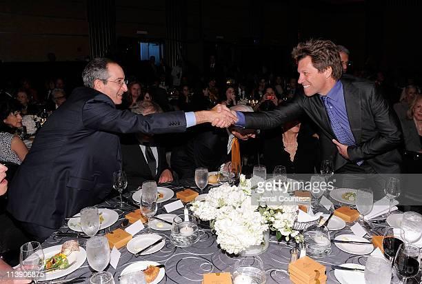 Ambassador for Humanity Honoree Brian L Roberts and Jon Bon Jovi attend the Ambassadors for Humanity gala honoring Brian L Roberts to benefit the USC...