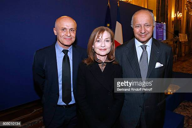 Ambassador for the cultural attractiveness of France Olivier Poivre d'Arvor Actress and Sponsor of 'Le Grand Tour' Isabelle Huppert and French...