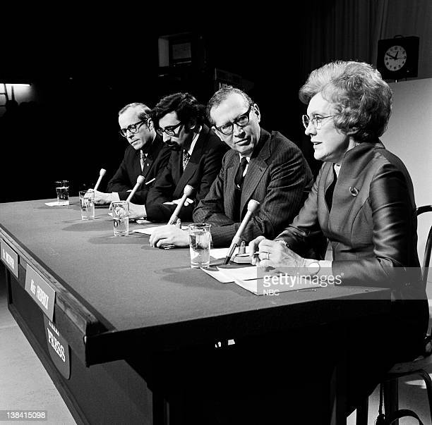 PRESS Ambassador George Bush Aired Pictured Panelists Journalist William Rusher Journalist Michael Berlin Journalist Robert Christopher NBC News'...
