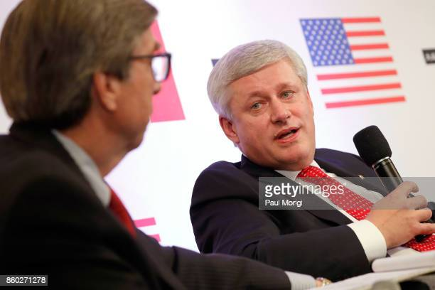 Ambassador Gordon D Giffin and the Right Honourable Stephen Harper speak about Trump Trudeau and Nieto regarding NAFTA Negotiations at Dentons NAFTA...