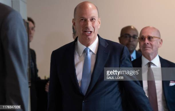 US Ambassador Gordon Sondland arrives at the US Capitol October 17 in Washington DC Sondland will appear before Congress for a closed deposition on...