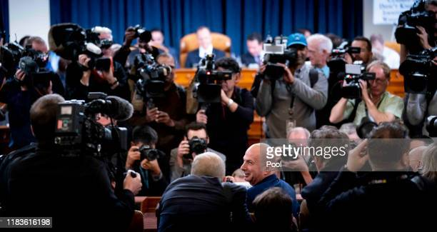 Ambassador Gordon Sondland, U.S. Ambassador to the European Union arrives to appear before the House Permanent Select Committee on Intelligence on...