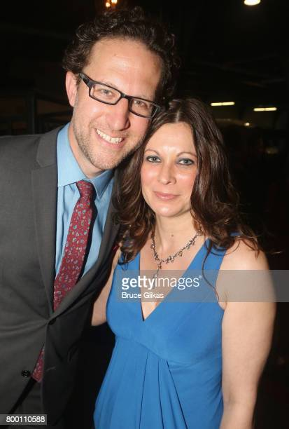 Ambassador Group's Hudson Theatre General Manager Eric Paris and wife pose at the opening night party for 1984 on Broadway at The Lighthouse at...