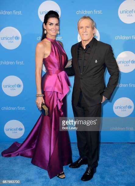 Ambassador honoree Angie Harmon and singer Michael Bolton at the fourth annual UNICEF Audrey Hepburn® Society Ball on May 24 2017 in Houston Texas