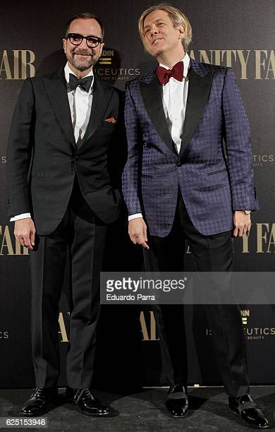 Ambassador in Spain James Costos and Michael Smith attend the 'Vanity Fair number 100 party' photocall at Real Academia de Bellas Artes de San...