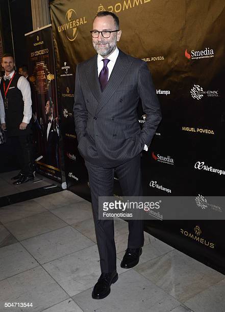 Ambassador in Spain James Costos attends Miguel Poveda's concert at the Compac Gran Via Theater on January 12, 2016 in Madrid, Spain.