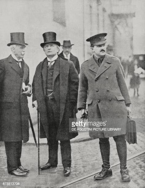 Ambassador James Rennel Rodd and the British Prime Minister David Lloyd George in Rome for the Allied War Council, January 5-7 Italy, World War I,...