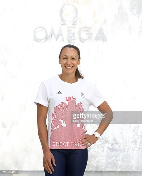 OMEGA ambassador Jessica EnnisHill pictured at OMEGA House Rio 2016 on August 14 2016 in Rio de Janeiro Brazil