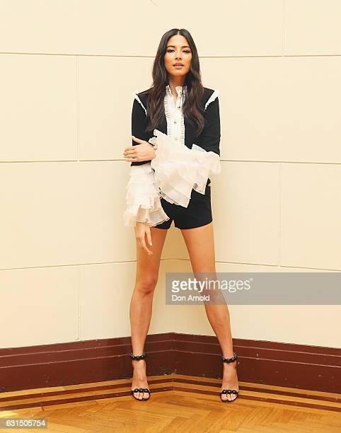 Ambassador Jessica Gomes poses during model casting for David Jones Autumn Winter 2017 Collections Launch at David Jones Elizabeth Street Store on...