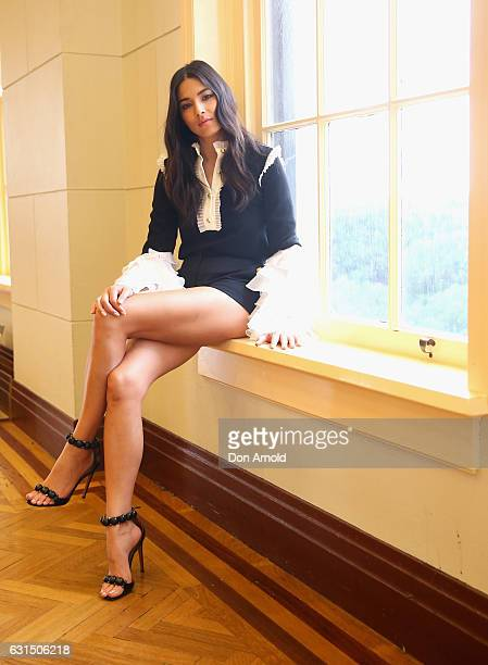 Ambassador Jessica Gomes poses during model casting for David Jones Autumn Winter 2017 Collections Launch at David Jones Elizabeth Street Store on...