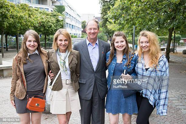 Ambassador John B. Emerson , his wife Kimberly Marteau Emerson and their daughters Jacqueline , Taylor and Hayley pose for a picture during a tour of...