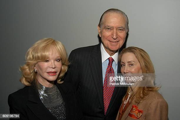 Ambassador John Loeb Jr Monique van Vooren and Sharon Handler attend LOTS OF LEHMANS Book Party at Museum of Jewish Heritage on February 28 2007 in...