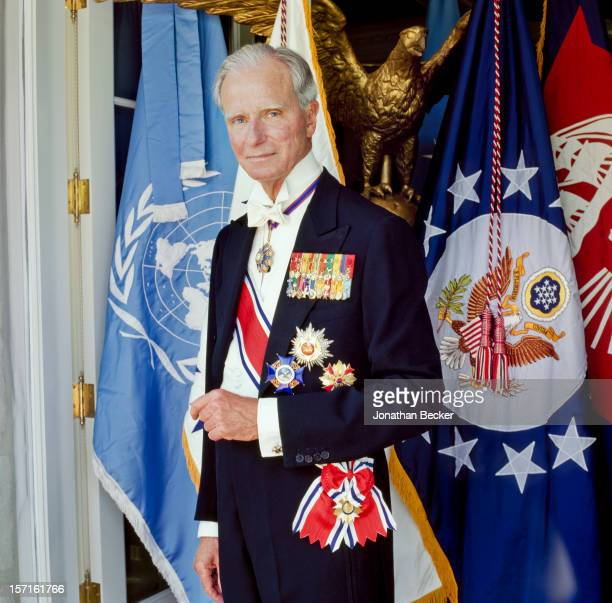 Ambassador Joseph Verner Reed Jr is photographed for Vanity Fair Magazine on August 2 1992 in Greenwich Connecticut PUBLISHED IN JONATHAN BECKER 30...