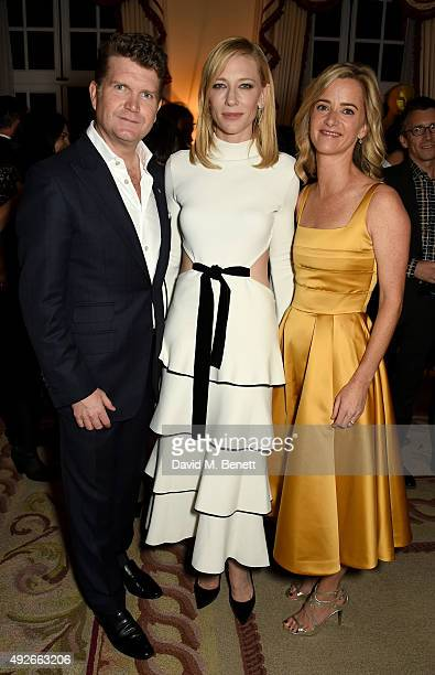 Ambassador Matthew Barzun actress Cate Blanchett and Mrs Brooke Barzun attend The Academy Of Motion Pictures Arts Sciences new members reception...