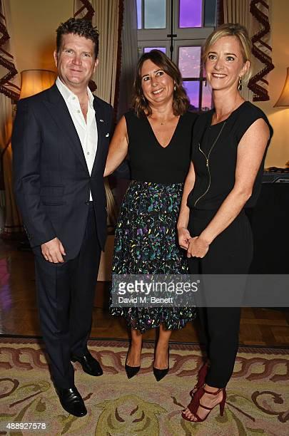 Ambassador Matthew Barzun Alexandra Shulman and Brooke Brown Barzun attend the London Fashion Week party hosted by Ambassador Matthew Barzun and Mrs...